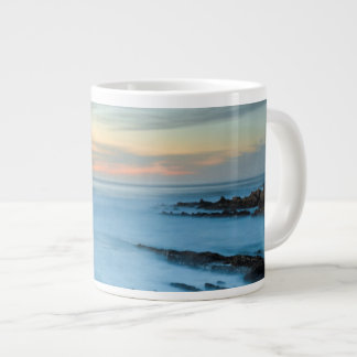 Blue seascape at sunset, California Large Coffee Mug