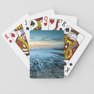 Blue seascape at sunset, California Playing Cards