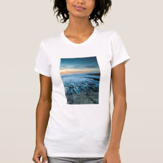 Blue seascape at sunset, California T-Shirt