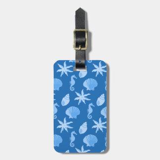 Blue Seashells Bag Tag
