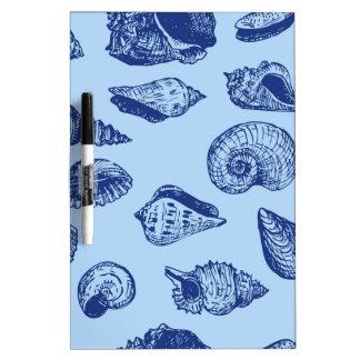 Blue Seashells Dry Erase Whiteboard