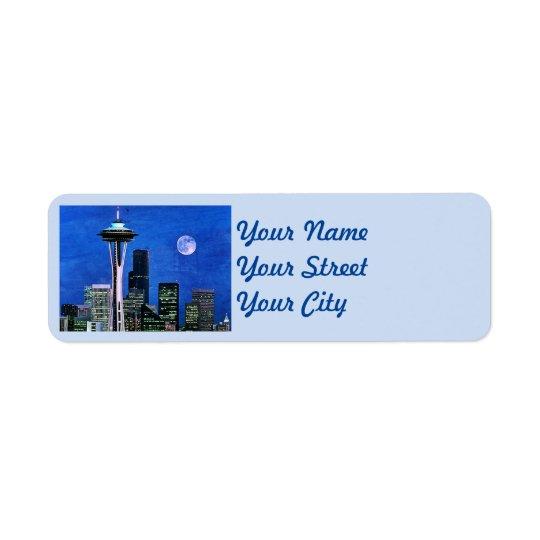 Blue Seattle Skyline