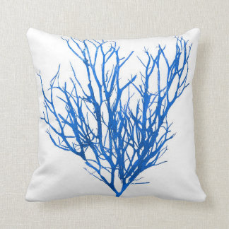 Blue Seaweed no.10 beach decor Throw Pillow