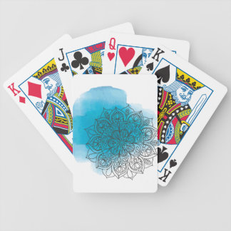 Blue send it bicycle playing cards