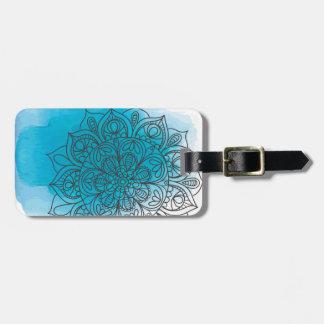 Blue send it luggage tag