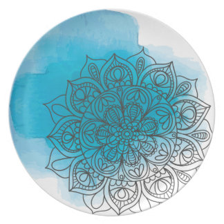Blue send it plate