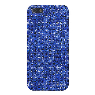 blue sequin effect 4  iPhone 5/5S cases