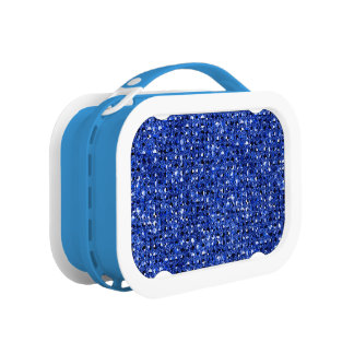 Blue Sequinned Bling Effect Lunch Box