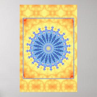 Blue Serenity Mandala Poster
