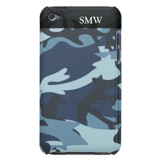 Blue Shades Camo Camoflauge Personalized iPod Touch Cover