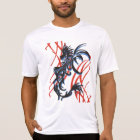 Blue Shadow black dragon with red T-Shirt