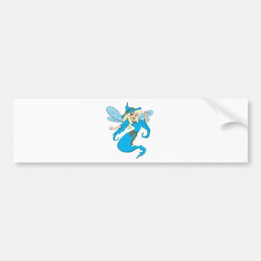 Blue-Shamrock-Faerie Bumper Sticker
