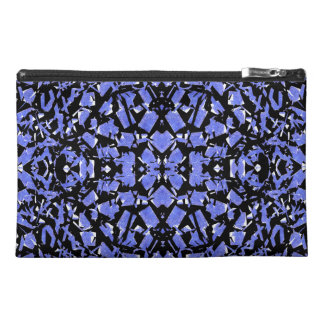 Blue Shapes Travel Accessory Bag