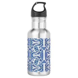 Blue Shapes Water Bottle