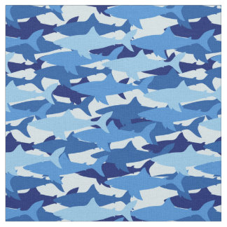 Blue Shark Pattern | Monogram Fabric