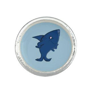 Blue shark photo ring