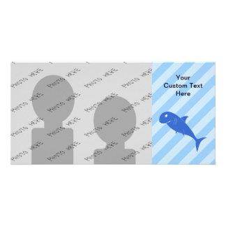 Blue Shark. Customized Photo Card