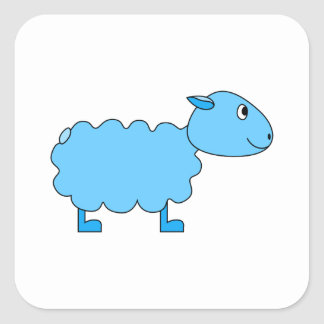 Blue Sheep. Square Sticker