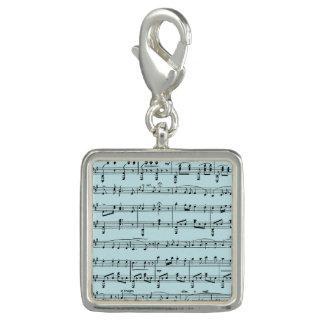 Blue Sheet Music Charm
