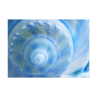Blue Shell Abstract Digital Art Canvas Print