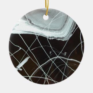 Blue Shell Ceramic Ornament