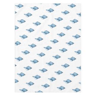 Blue shell nautical coastal beach sea ocean tablecloth