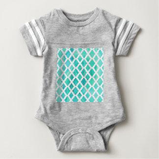 Blue Shell Pattern Baby Bodysuit