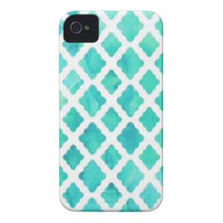 Blue Shell Pattern iPhone 4 Case