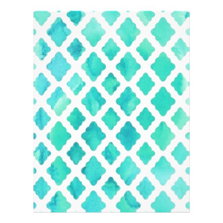 Blue Shell Pattern Letterhead