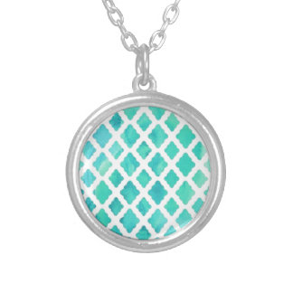 Blue Shell Pattern Silver Plated Necklace