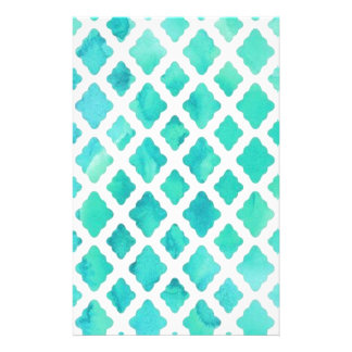 Blue Shell Pattern Stationery