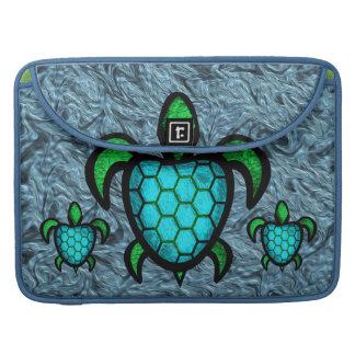 Blue Shell Turtle MacBook Pro Flap Sleeve