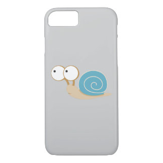 Blue Shelled Snail iPhone 7 Case