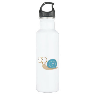 Blue Shelled Snail 24oz Water Bottle