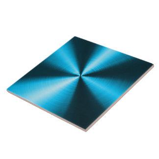 Blue Shiny Metallic Design Stainless Steel Look Tiles