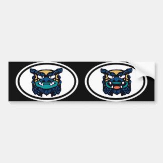 Blue Shisa pair Bumper Sticker