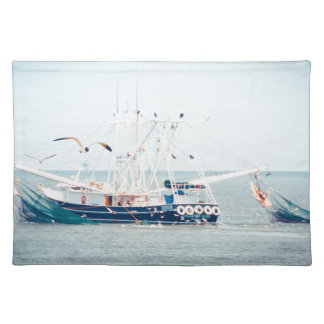 Blue Shrimp Boat on the Ocean Placemat