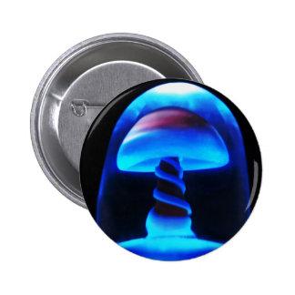 Blue Shroom 2 Inch Round Button