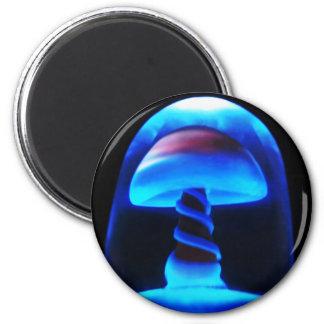 Blue Shroom 2 Inch Round Magnet