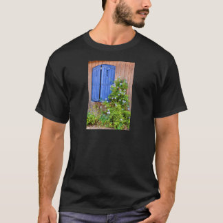 Blue shutters and flowers T-Shirt