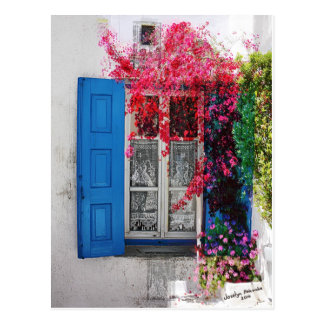 Blue Shutters Postcard