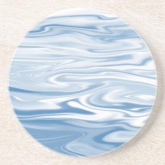 Blue Silk Drink Coaster