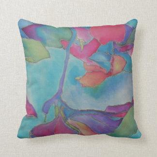 Blue Silk Pillow