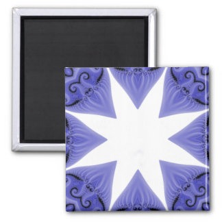 Blue Silk Star Magnet Template