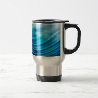 Blue silk travel mug