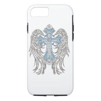 Blue/Silver Angel wings/Cross iPhone 7 Case