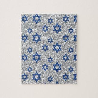 blue-silver-david-stars jigsaw puzzle