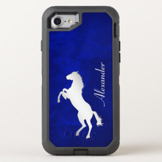 Blue Silver Horse OtterBox Defender iPhone 7 Case