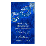 Blue Silver Masquerade Ball Wedding Favour Tags Pack Of Standard Business Cards