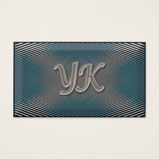 Blue & Silver optic illusion Business Card